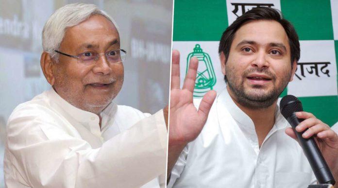 CM Nitish Kumar and opposition leader Tejashawi Yadav. (file photo)