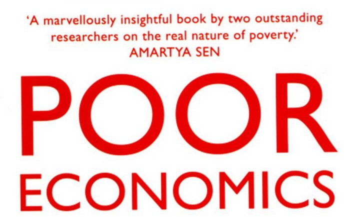 Cropped cover page of 'Poor Economics: A Radical Rethinking of the Way to Fight Global Poverty'.Photo Credit: The Hindu.