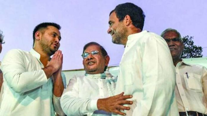 The seat-sharing deal for Bihar Assembly election has been finalised in the Grand Alliance after the intervention of Rahul Gandhi. (File photo, courtesy: PTI)