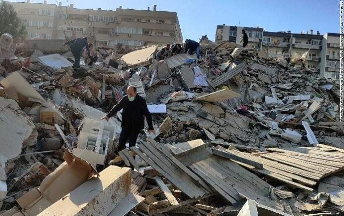 Rescuers searching for survivors in the rubble (File Photo, Image credit: CNN.com)