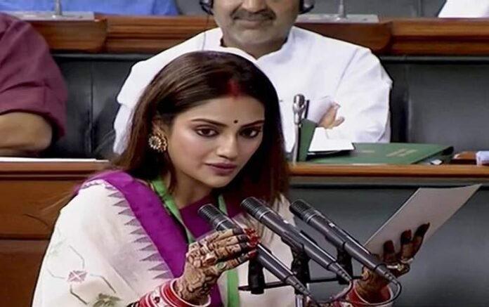Bengali film actress-turned-Trinamool Congress MP, Nusrat Jahan (File Photo, Image credit: The Financial Express)