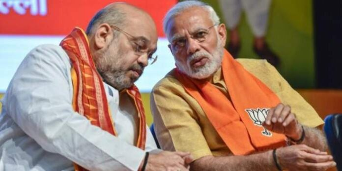 Home Minister Amit Shah and Prime Minister Narendra Modi (File Photo, Image credit: New Indian Express)
