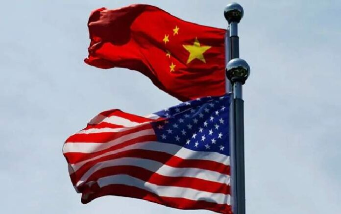 A file photo of the flags of the United States and China (Image credit: NDTV.com)