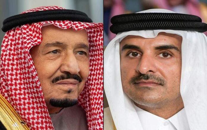 Saudi King Salman bin Abdulaziz (left) and Qatar's emir Sheikh Tamim bin Hamad Al-Thani (File Photo, Image credit: The Independent)