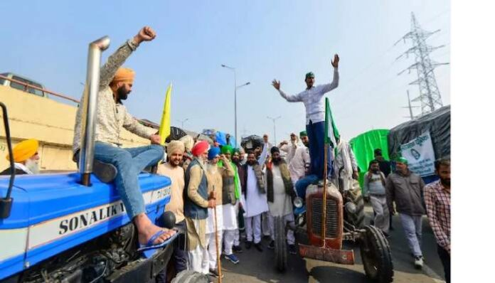 Farmers protesting on their tractors in protest against the three farm laws. (File Photo, Image credit: India Today)