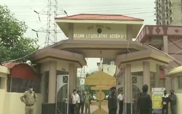 File photo of the outside of the Assam Legislative Assembly (Image credit: Northeast Now)