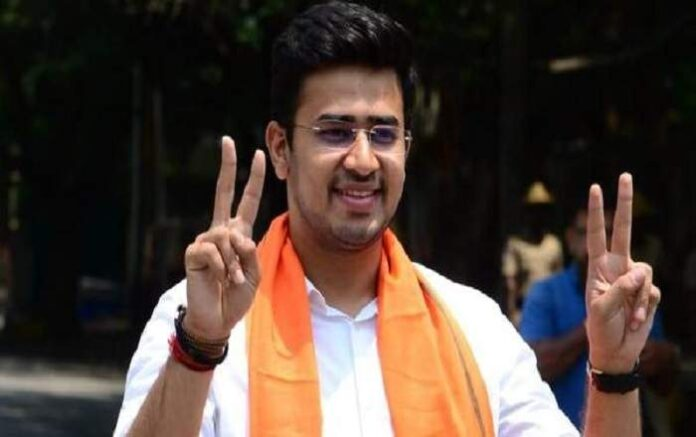 BJP MP from South Bangalore Tejasvi Surya (Image credit: Scroll.in)
