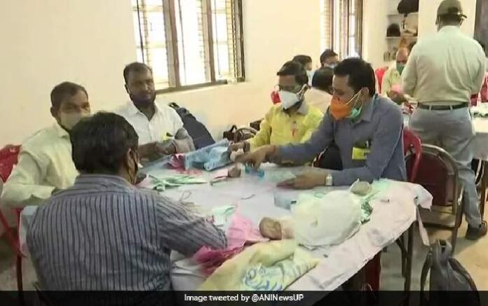 Counting of votes for UP panchayat polls going on in Lucknow (Image credit: NDTV)