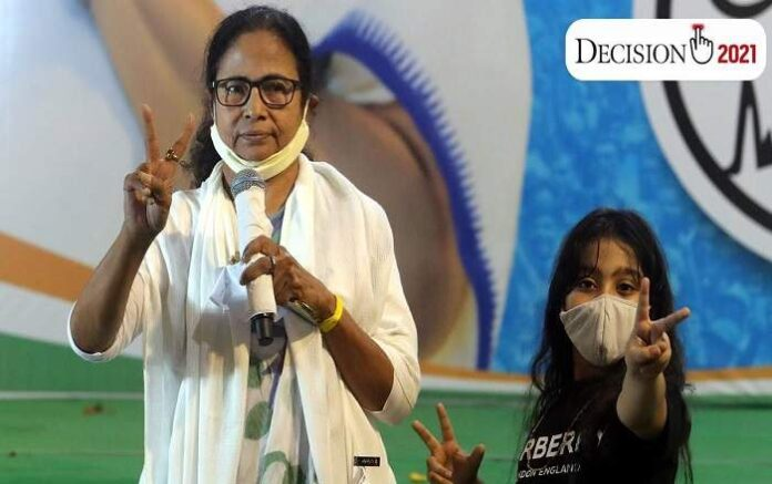 West Bengal chief minister Mamata Banerjee (L) (Image credit: The Indian Express)
