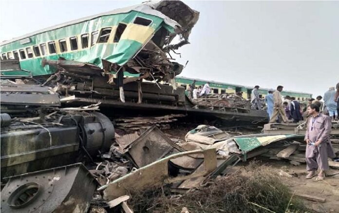 A scene of mangled coaches from the accident site (Image credit: News Nation)