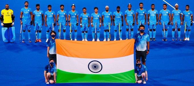 Indian Men's Hockey won the bronze medal in Tokyo Olympics. (Image credit: Twitter/Gautam Gambhir)
